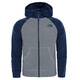 """The North Face Youth Glacier Full Zip Fleece Jacket Grey/Cos Blue"""